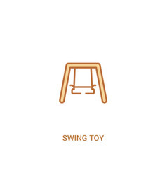 swing toy concept 2 colored icon simple line vector image
