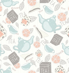 Tea vintage pattern vector