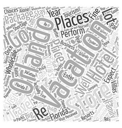 The Orlando Vacation Store Tourist Planning Word vector