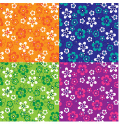 Tropical floral patterns vector