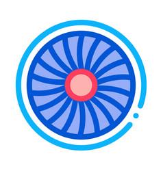 turbine engine icon outline vector image