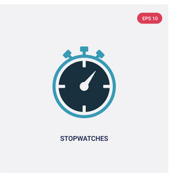 Two color stopwatches icon from user interface vector