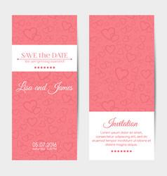 Vertical wedding invitation cards template vector