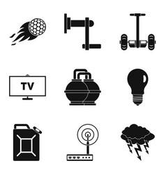 Vigor icons set simple style vector