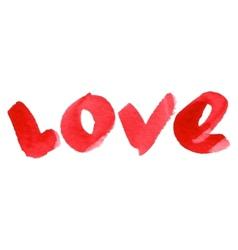 Watercolor love lettering vector