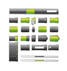 Web elemets collection vector image