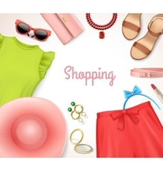 Women Clothing Accessories Frame vector image