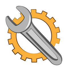 wrench in cartoon style vector image