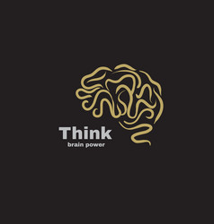 logo brain power vector image