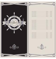 menu pirates vector image vector image