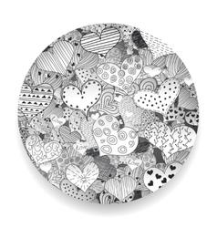 Monochrome Valentine Day Pattern Sketch Romantic vector image vector image