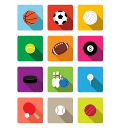 sport balls flat icons vector image