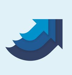 three in one up arrows blue color vector image vector image