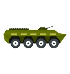 Armoured troop carrier icon flat style vector