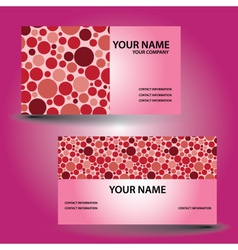 Business card color circle eps10 vector