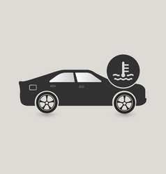 car cooling system icon vector image vector image