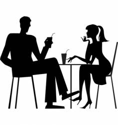 couple at cafe vector image vector image