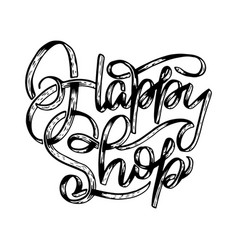 original hand drawn with lettering vector image