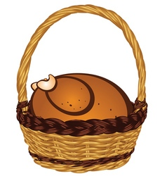 Roasted Turkey in a Basket2 vector image vector image