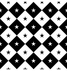 Star black white chess board diamond background vector
