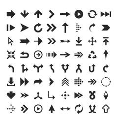 Arrow glyph icons vector image