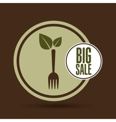 big sale natural food healthy vector image vector image