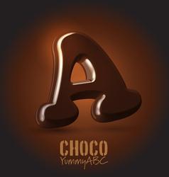 Chocolate typeset vector image vector image