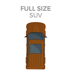 full size suv means of transportation isolated vector image vector image