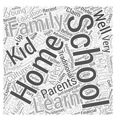 Home schooling and the young children word cloud vector
