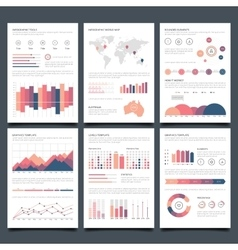 Infographic brochures vector image vector image