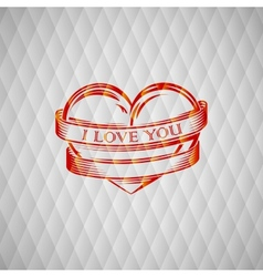 with engraving red heart vector image