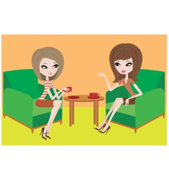 young women talk vector image