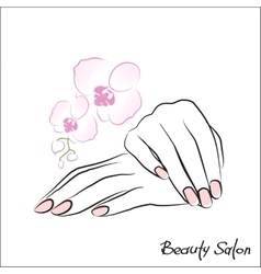 Female hands manicure vector image