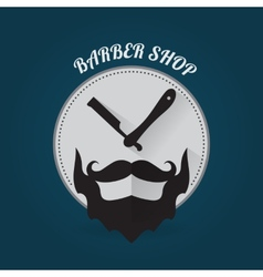Modern flat style Barber Shop Template vector image