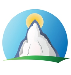 Mountain logo 1 vector image vector image
