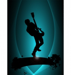 rock musician poster vector image vector image