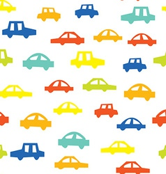 Seamless pattern with cars funny design vector image