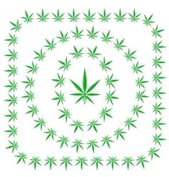 Set of cannabis frames vector