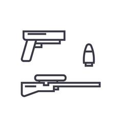 shooter game gun rifle bullet concept vector image