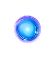 abstract circle blue vector image