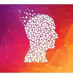 Abstract creative concept silhouette head vector