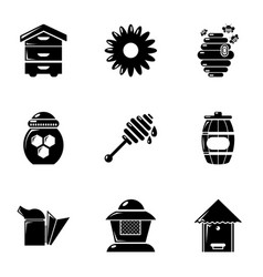 Apiculture icons set simple style vector