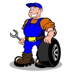 Auto mechanic vector