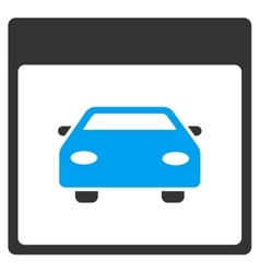 Automobile car calendar page toolbar icon vector