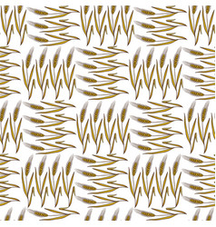 Autumn harvesting wheat spikelets crops spikes vector