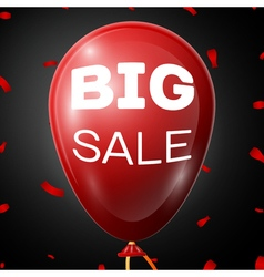 Big Sale on Red Baloon over black background vector