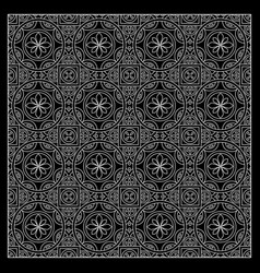 black and white bandana print vector image vector image