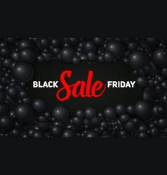 Black friday sale of black vector