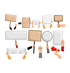 blank banners isolated for protest message vector image