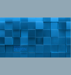 blue cubic background vector image